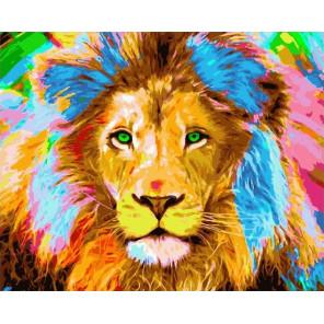 Сложность и количество цветов Цветной лев Раскраска картина по номерам на холсте МСА264