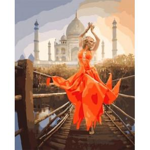 Сложность и количество цветов Восточный танец Раскраска картина по номерам на холсте МСА599