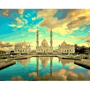 Белая мечеть в г. Болгар Раскраска картина по номерам на холсте МСА622