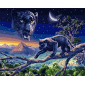 Ночная охота Раскраска картина по номерам на холсте МСА634