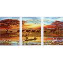 Африка Триптих Раскраска картина по номерам на холсте