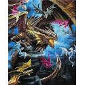 Царство драконов Алмазная вышивка мозаика на подрамнике UА299