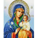 Богородица. Неувядаемый Цвет Алмазная вышивка мозаика на подрамнике UA334