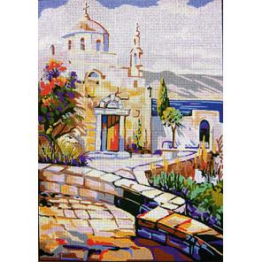 Греческий храм Канва жесткая с рисунком для вышивки Gobelin L