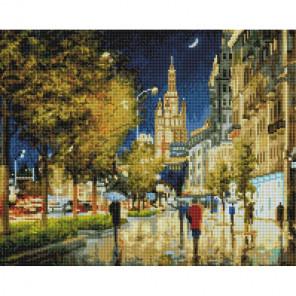 Вечерний свет Садового кольца Алмазная вышивка мозаика на подрамнике 521-ST-S