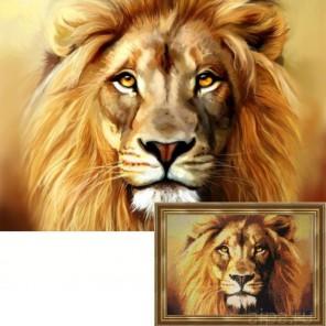 Лев Алмазная вышивка (мозаика) Гранни