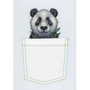 Внешний вид упаковки Веселая панда Набор для вышивания МП Студия В-241