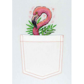 Розовый фламинго Набор для вышивания МП Студия В-248
