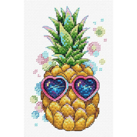 Солнечный ананас Набор для вышивания МП Студия В-533