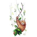 Задорный ленивец Набор для вышивания МП Студия В-538