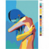 Радужная девушка на синем фоне 80х120 Раскраска картина по номерам на холсте