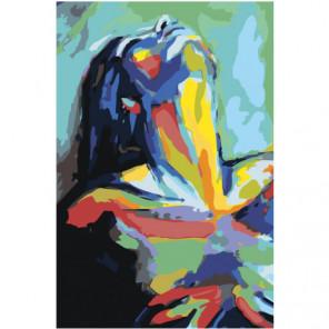 Радужная обнаженная девушка, страсть Раскраска картина по номерам на холсте