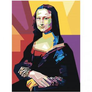 Красочная Мона Лиза поп-арт 75х100 Раскраска картина по номерам на холсте