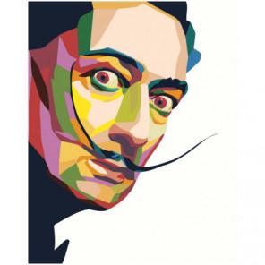 Красочный Сальвадор Дали поп-арт 100х125 Раскраска картина по номерам на холсте