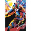 Красочный бэтмен Раскраска картина по номерам на холсте