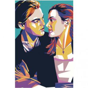 Титаник поп-арт 100х150 Раскраска картина по номерам на холсте