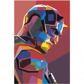 Портрет красочного бэтмена 80х120 Раскраска картина по номерам на холсте