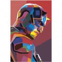 Портрет красочного бэтмена 100х150 Раскраска картина по номерам на холсте