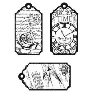 Ярлычки Время Набор прозрачных штампов для скрапбукинга, кардмейкинга Viva Decor