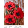 Сложность и количество цветов Маки во ржи Раскраска картина по номерам на холсте GX24204