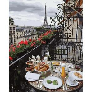 Сложность и количество цветов Утро в Париже Раскраска картина по номерам на холсте GX28602