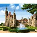 Мошненский замок в Польше Раскраска картина по номерам на холсте GX26144