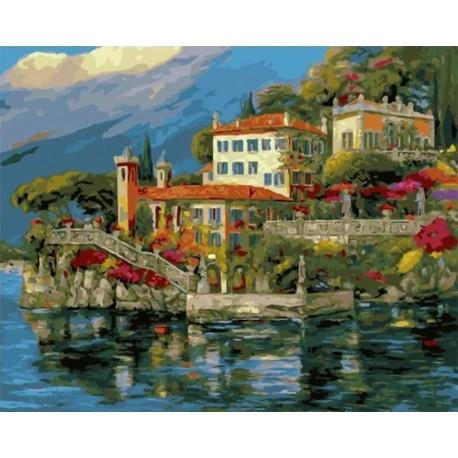Вилла у воды Раскраска картина по номерам на холсте MCA786