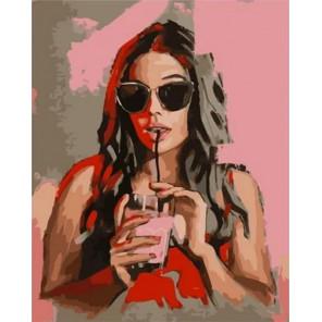 Клубничный коктейль Раскраска картина по номерам на холсте MCA1006