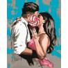 Сладкий поцелуй Раскраска картина по номерам на холсте MCA1008