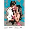 Сложность и количество цветов Сладкий поцелуй Раскраска картина по номерам на холсте MCA1008
