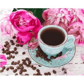 Сложность и количество цветов Кофе в зернах Раскраска картина по номерам на холсте MCA1027