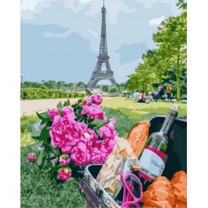 Сложность и количество цветов Французский багет и вино Раскраска картина по номерам на холсте MCA1039