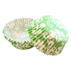 Цветочный узор зеленый Набор бумажных форм для кексов Dolce Arti
