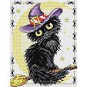 Очарование черной кошки Набор для вышивания МП Студия М-295