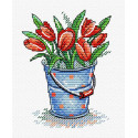 Свежесть тюльпанов Набор для вышивания МП Студия М-377