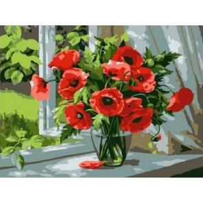 Маки Раскраска картина по номерам на холсте PKD76050