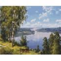Просторы Алмазная вышивка мозаика на подрамнике QAPK59027