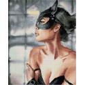 Женщина-кошка Алмазная вышивка мозаика на подрамнике QAPK59076