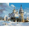 Суздаль. Покровский собор Алмазная вышивка мозаика на подрамнике QAPK59034