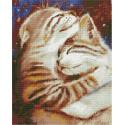 Мурчу тобою. Два кота Алмазная вышивка мозаика на подрамнике QAPK59010