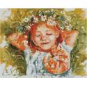 Рыжая влюблённая Алмазная вышивка мозаика на подрамнике QAPK59009