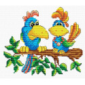 Краски джунглей Набор для вышивания МП Студия М-053