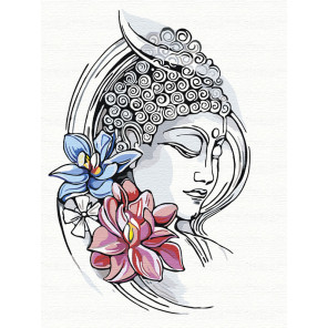 Просветление. Будда Раскраска картина по номерам на холсте AAAA-RS054-75x100