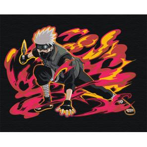 Какаси Хатакэ. Аниме Наруто Раскраска картина по номерам на холсте с неоновыми красками AAAA-RS035