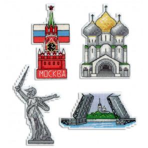 Россия. Магниты Набор для вышивания на пластиковой канве МП Студия Р-308