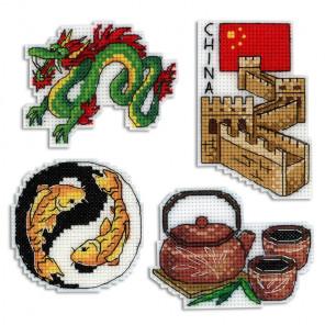 Китай. Магниты Набор для вышивания на пластиковой канве МП Студия Р-335