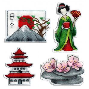 Япония. Магниты Набор для вышивания на пластиковой канве МП Студия Р-336
