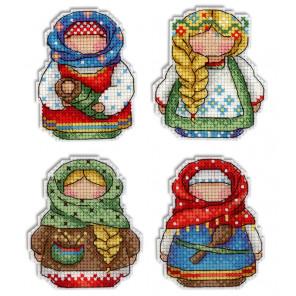 Русские обереги. Магниты Набор для вышивания на пластиковой канве МП Студия Р-338