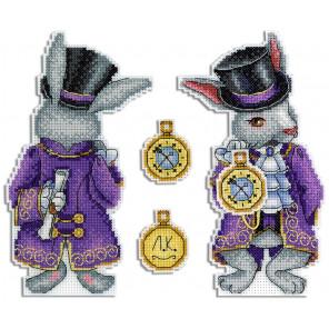 Чудесный кролик Набор для вышивания на пластиковой канве МП Студия Р-347