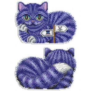 Чеширский кот Набор для вышивания на пластиковой канве МП Студия Р-402